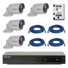 Kit complet supraveghere video Hikvision cu 4 camere video IP interior/exterior