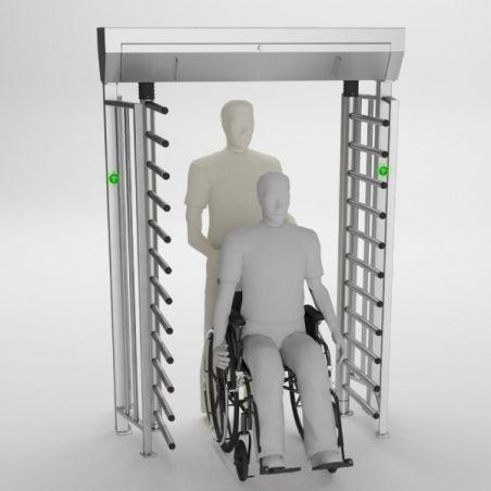 Turnichet vertical full height pentru persoane cu dizabilitati BA3-2-I