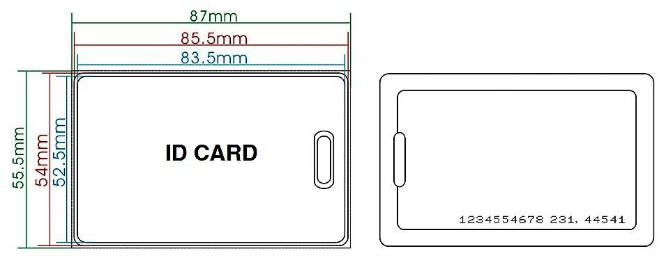Dimensiuni card clamshell